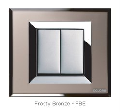Kolors Klassic Premium Glass Plate Frosty Bronze Switch Plate