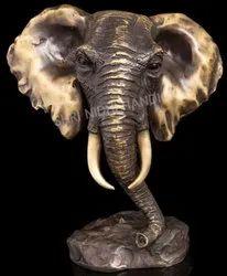 Elephant Metal Statue