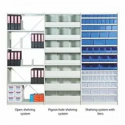 Stainless steel and Plastic Rectangular Alkon Panda Shelving Systems, For Office