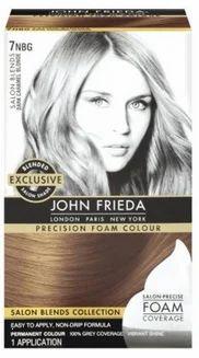 John Frieda Permanent Hair Colour Dark Caramel Blonde 7nbg