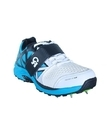 KD CA Big Bang White & Sky Blue Metal Spike Shoes