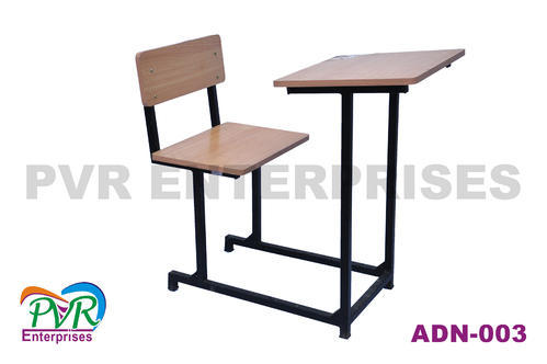 Rubber Wood,steel Wooden Color Exam Study Table Long