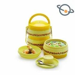 Hanumant Insulated Tiffin, For Home & Office, Size: Regular