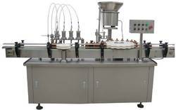 4 Nozzle Filling And Capping Machine