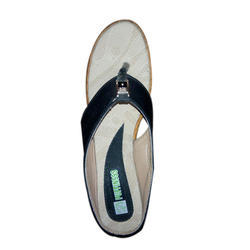 Black Rexine Ladies Casual Sandals, Size: 6 To 11