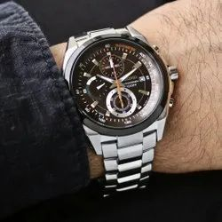 Silver Mens Chronograph Watches