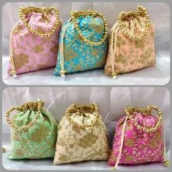 Assorted Silk Embroidered Potli Bags