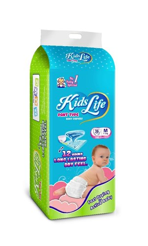 Mamy KIDS LIFE BABY DIAPERS SIZE- M 38 PCS, Medium