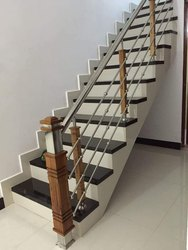 SSM61 Stainless Steel Wooden Stair Railing