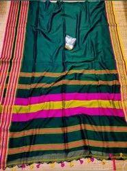 Handloom Cotton Designer Border Sarees