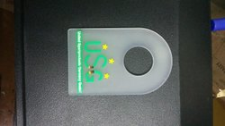 White Pure Silicon Rubber Label, For Garments, Packaging Type: Packet