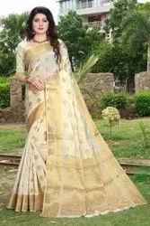 Ligalz presents Banarasi jequard silk saree with blouse