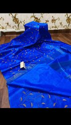Tussar Silk Embroidery Work Sarees