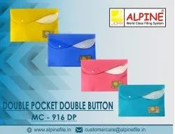 Double Button Double Pocket My Clear Bag