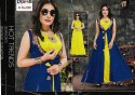 Party Wear Straight Rayon Kurti With Jacket, Size: Xl, Wash Care: Machine Wash