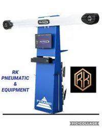 Fully Automatic Four Wheeler Pyramid Wheel Aligner, Capacity: 60 Kg
