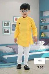 Cotton Party Wear Boy's kurta pajama, Machine wash