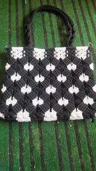Multicolor Cotton Macrame Hand Bag