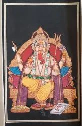 Paper sheet painting God subject