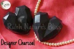 Glycerine Charcoal heart soap, For Bathing, 50 Gm