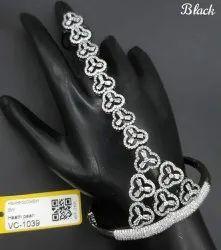 Brass American Diamond Hath Panja, Jewellery Type: Artificial Exclusive Jewellery