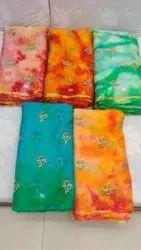 Organza With Shibori  embroidery work