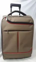 Biscuit with red contrast Trolley Bags 18x12x8 inches, For Travelling