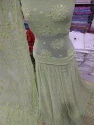 Pista green Allover Wedding Wear Lehenga
