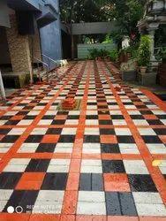 Cement Rectangular Interlocking Paver Blocks, For Pavement, Thickness: 60 Mm
