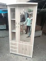 Wooden Wardrobe With Dressing Table, For Home, Size: 6*4