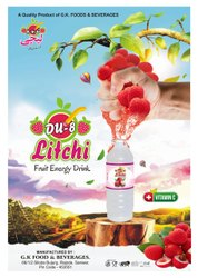 Du-8 Litchi juice Ready To Serve Fruit Drink, Packaging Size: 175 ml