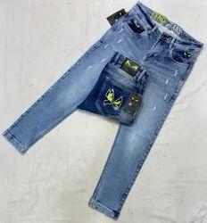 Denim Faded Mens Jeans, Waist Size: 28