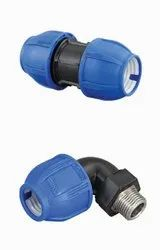Compression fittings for HDPE and MDPE Pipes