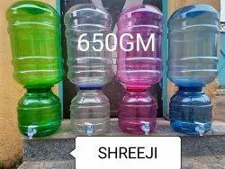 Shree Ji Plastic 20 L Jar Dispenser Water Bottle, Weight: 650 Gm