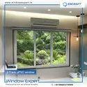 White Encraft Upvc Window, Glass Thickness: 5mm Saint Gobain Glass