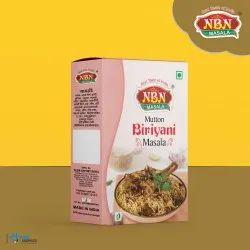 Mutton biriyani masala, Packaging Type: Box