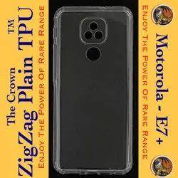 Motorola E7+ Transparent Mobile Back Cover
