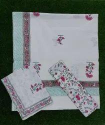 Double  king size  bedsheet  hand block