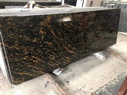 Big Slab Polished Cosmico gold granite, For Flooring, Thickness: 15-20 mm