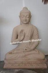 Sand stone gotam buddha statue