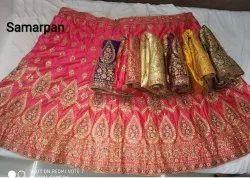 Silk,Velvet and Satin Semi-Stitched Bridal Lehenga Wholesaler, Size: Free Size, Set Of 5