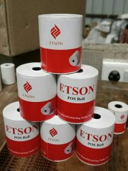 White Plain Thermal Paper Roll, GSM: 80 - 120 GSM