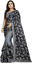 Nivera Wedding Wear Beautiful Lycra Silk Saree, With Blouse Piece, 5.5 M (separate Blouse Piece)