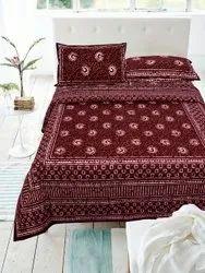 Cotton dabu print bedsheets
