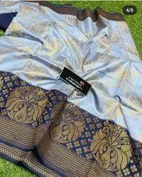 Banarasi Silk Banarsi semi dupion, 6.3 m (with blouse piece)