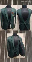 Wedding Plain Mens Three Piece Suit
