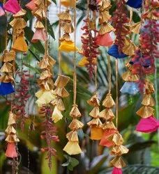 Wedding And Event Decoration Gota And Fabric Flower Hanging