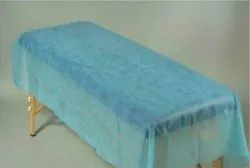 Blue Disposable Non Woven Bed Sheet, For Hospital, Size: 36x84