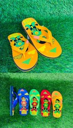 Daily wear Red and Yellow Kids Flip Footwear, Size: 4*5 And 8*3