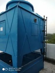Fiberglass Reinforced Polyester Counter Flow Square Cooling Tower, For Industrial, Induced Draft